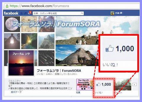 フォーラムソラ・ファン1000達成おめでとう!